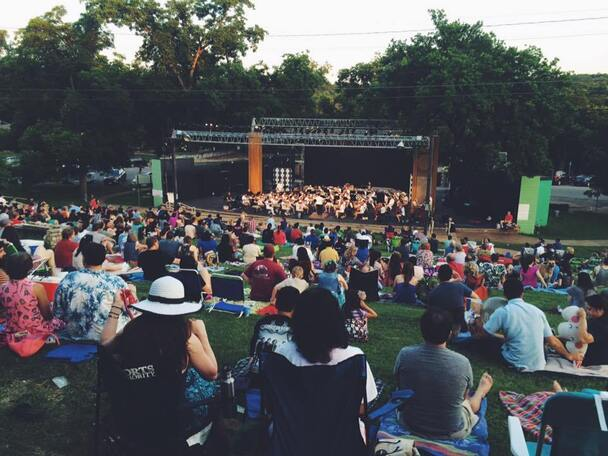 Image result for symphony in the park at hillside theater